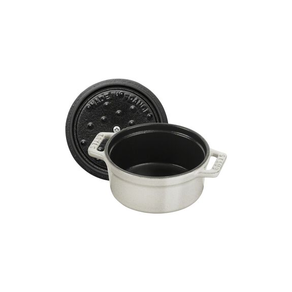 .25-qt Mini Round Cocotte - White Truffle,,large 7