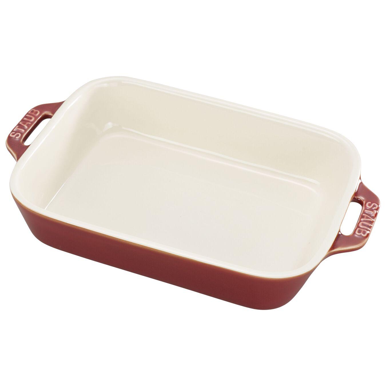 7.5-x 6-inch, rectangular, Baking Dish, rustic red,,large 1