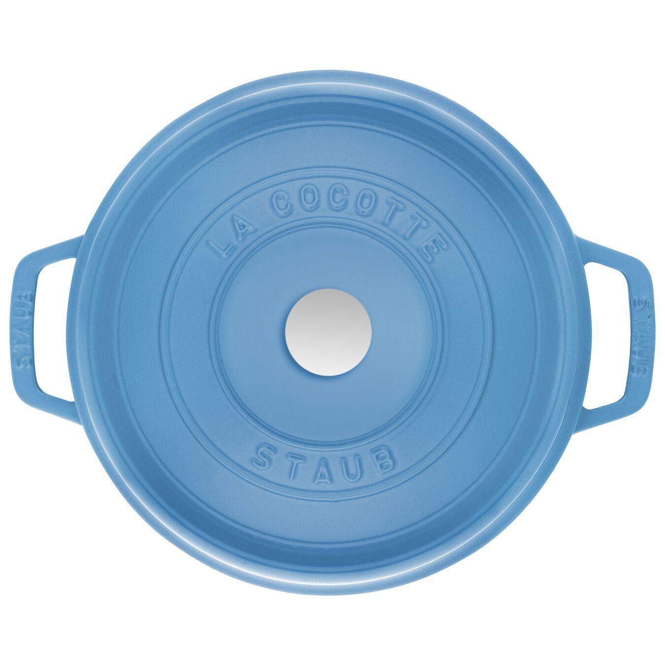 5 qt, round, Cocotte, ice-blue,,large 3