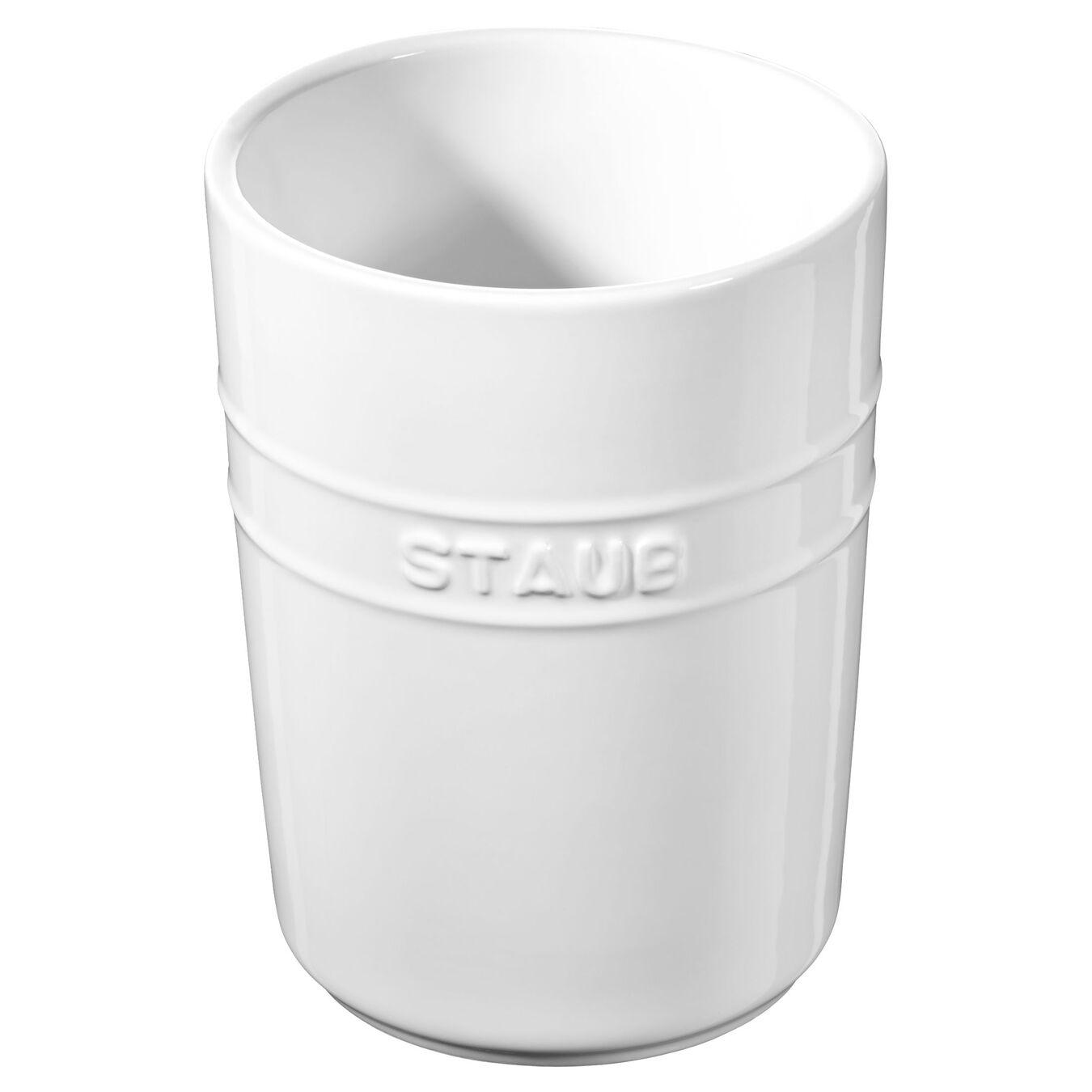 15 cm Ceramic Utensil holder, Pure-White,,large 1