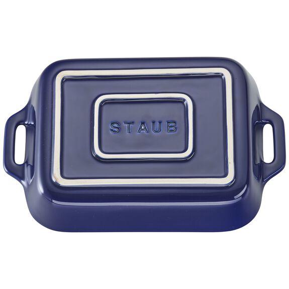 7.5-inch x 6-inch Rectangular Baking Dish - Dark Blue,,large