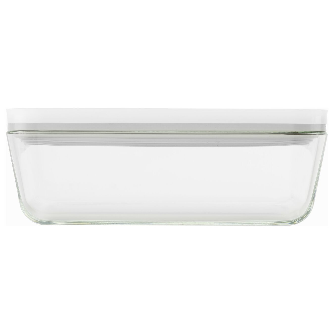 Vacuum Fridge Container, borosilicate glass, white,,large 2