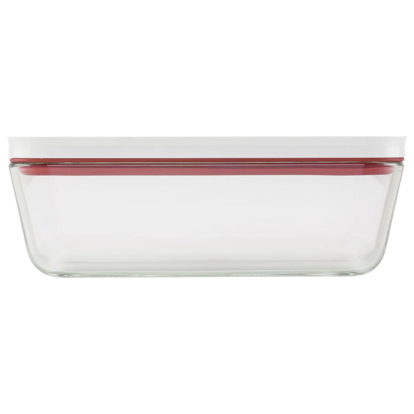 Contenitore sottovuoto per il frigo, vetro, rosso,,large 3