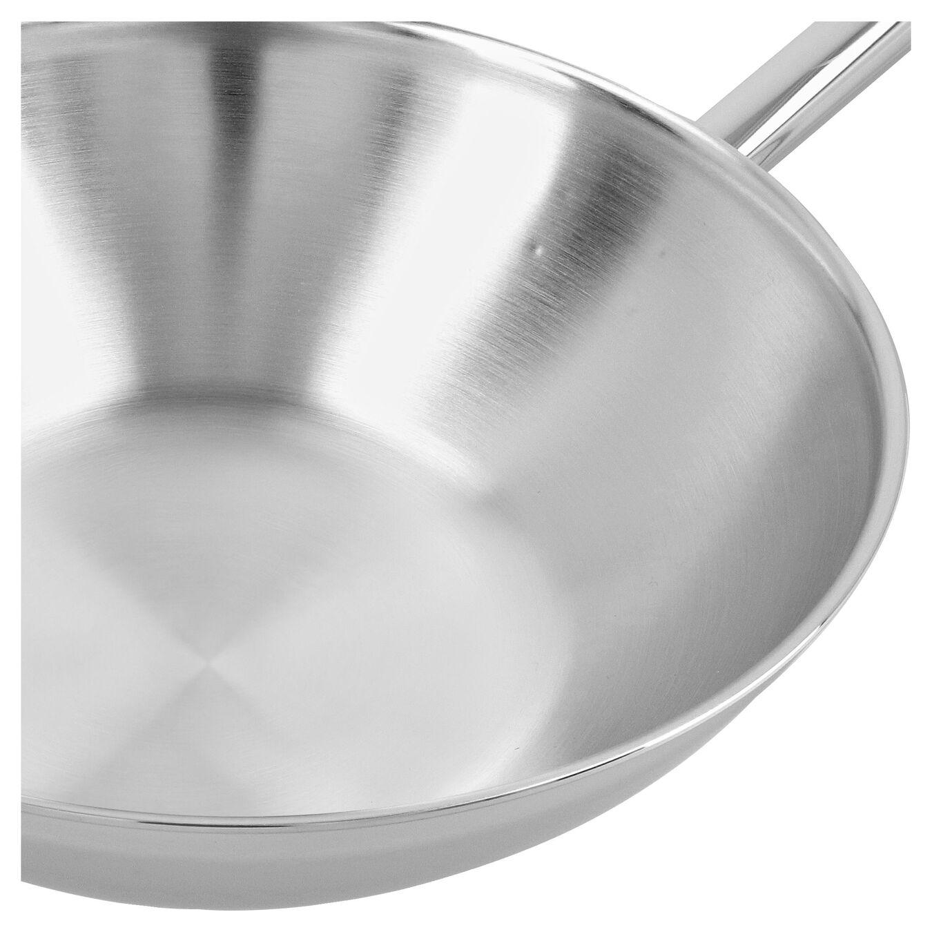 Wok vlakke bodem Zilver 30 cm,,large 3