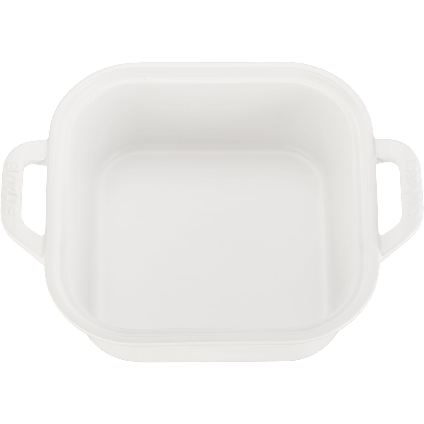 9-inch, square, Special shape bakeware, matte white,,large 4