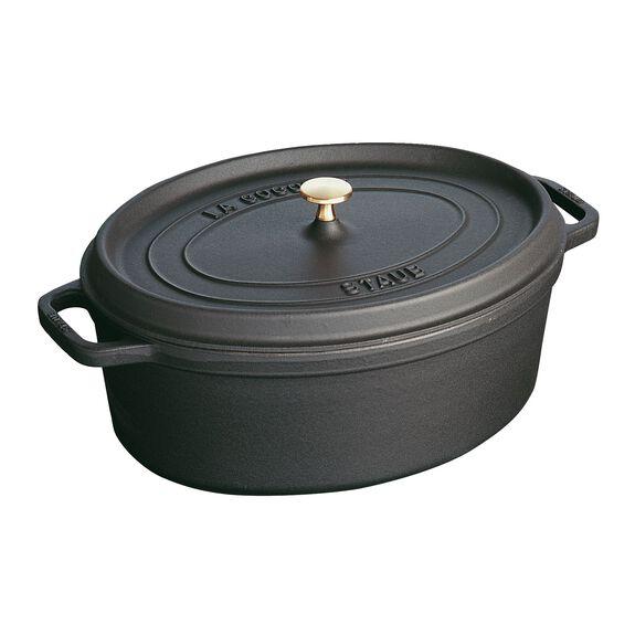 1-qt oval Cocotte, Black,,large 2
