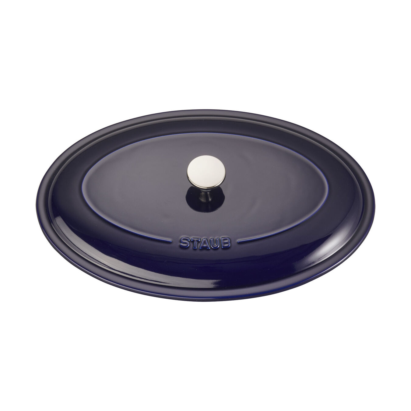 14-inch Oval Covered Baking Dish - Dark Blue,,large 4