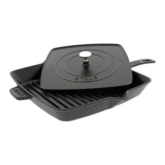 12-inch Enamel Grill pan,,large