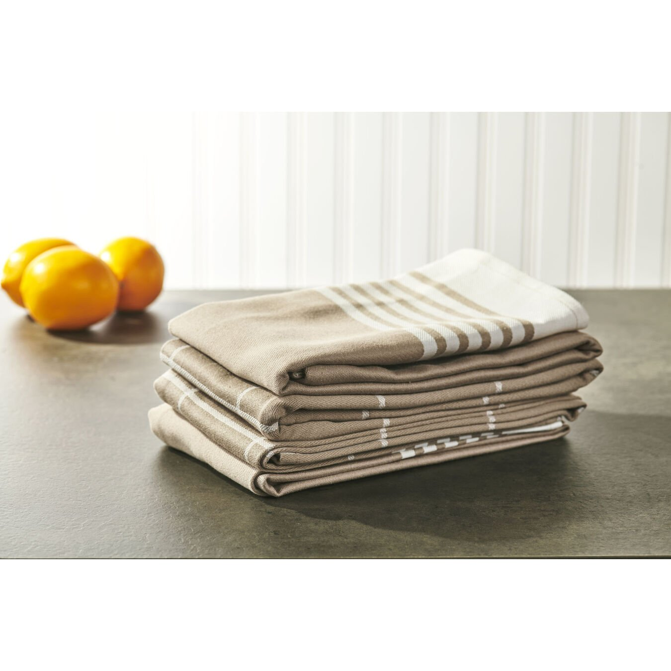 Kitchen towel, taupe,,large 4