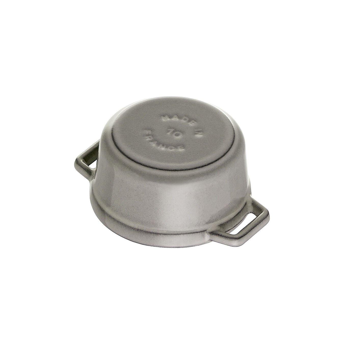 Mini Cocotte 10 cm, rund, Graphit-Grau, Gusseisen,,large 4