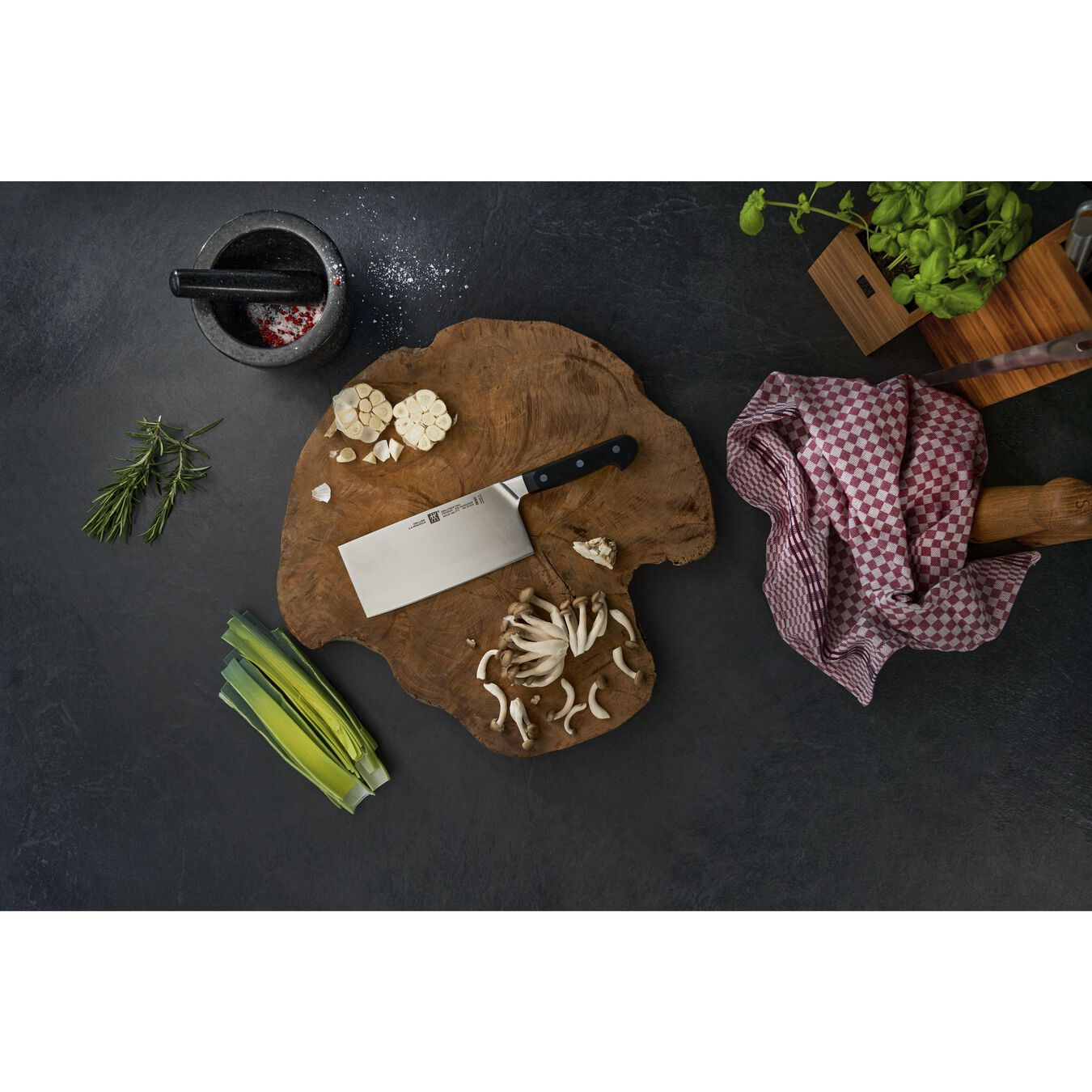 Chin. Kochmesser 18 cm, Kunststoff,,large 2
