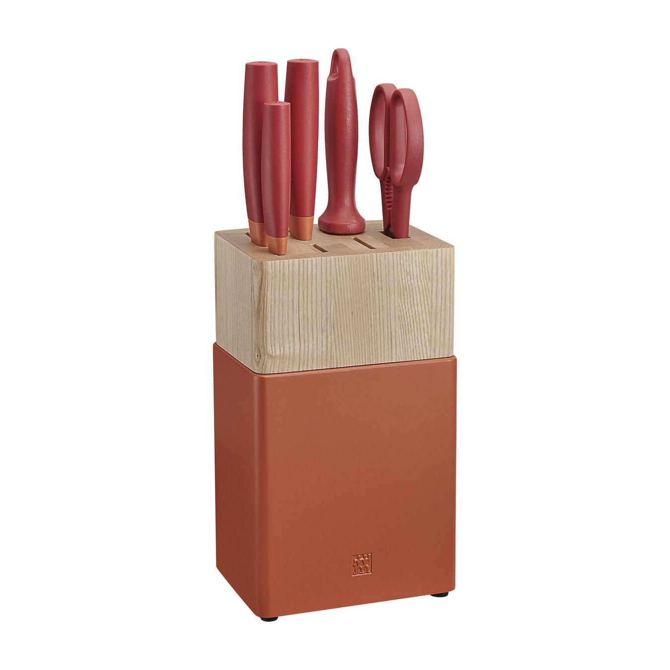 6-pc, Z Now S Knife Block Set, orange,,large 1