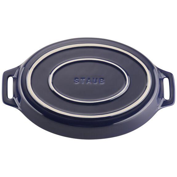 2-pc Oval Baking Dish Set, Dark Blue, , large