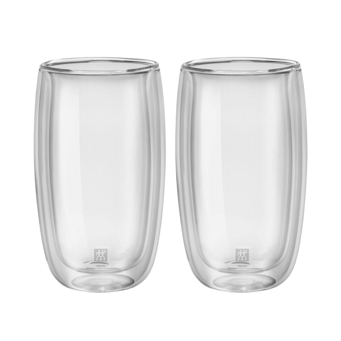 Set di bicchieri da latte - 2-pz., vetro borosilicato,,large 1
