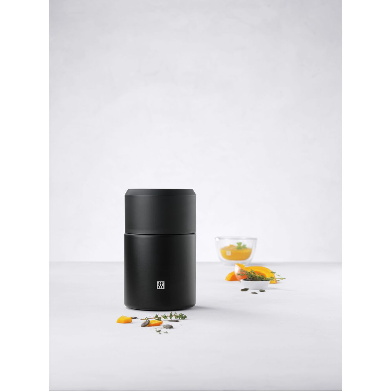Recipiente alimentare - 700 ml, acciaio inox, nero,,large 6
