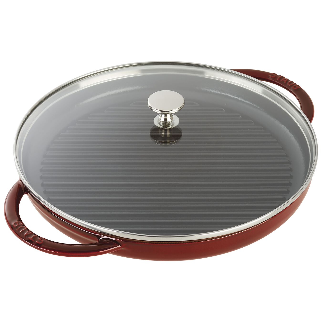 12-inch Round Steam Grill - Grenadine,,large 1