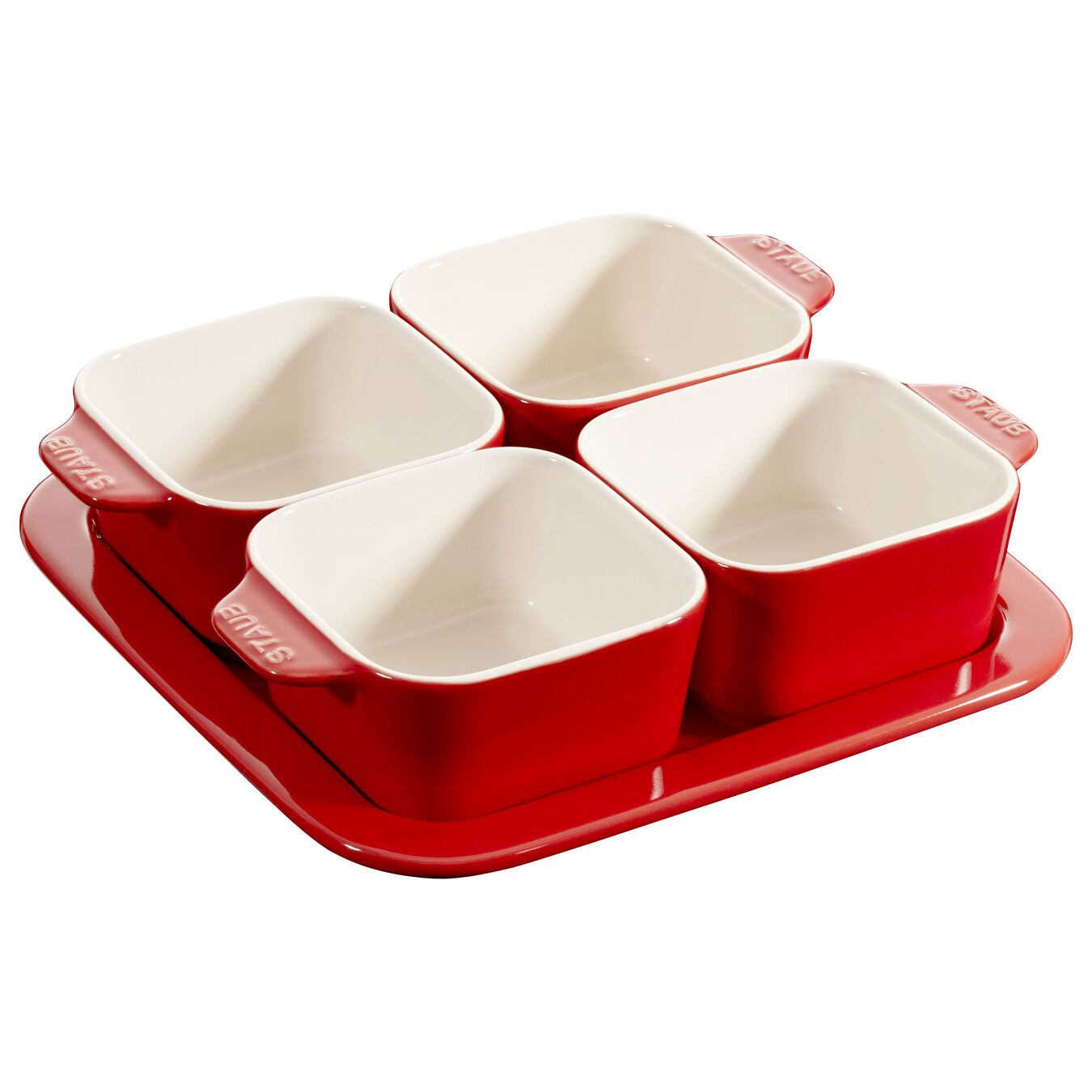 5 Piece 5 Piece Appetiser set, cherry - Visual Imperfections,,large 1