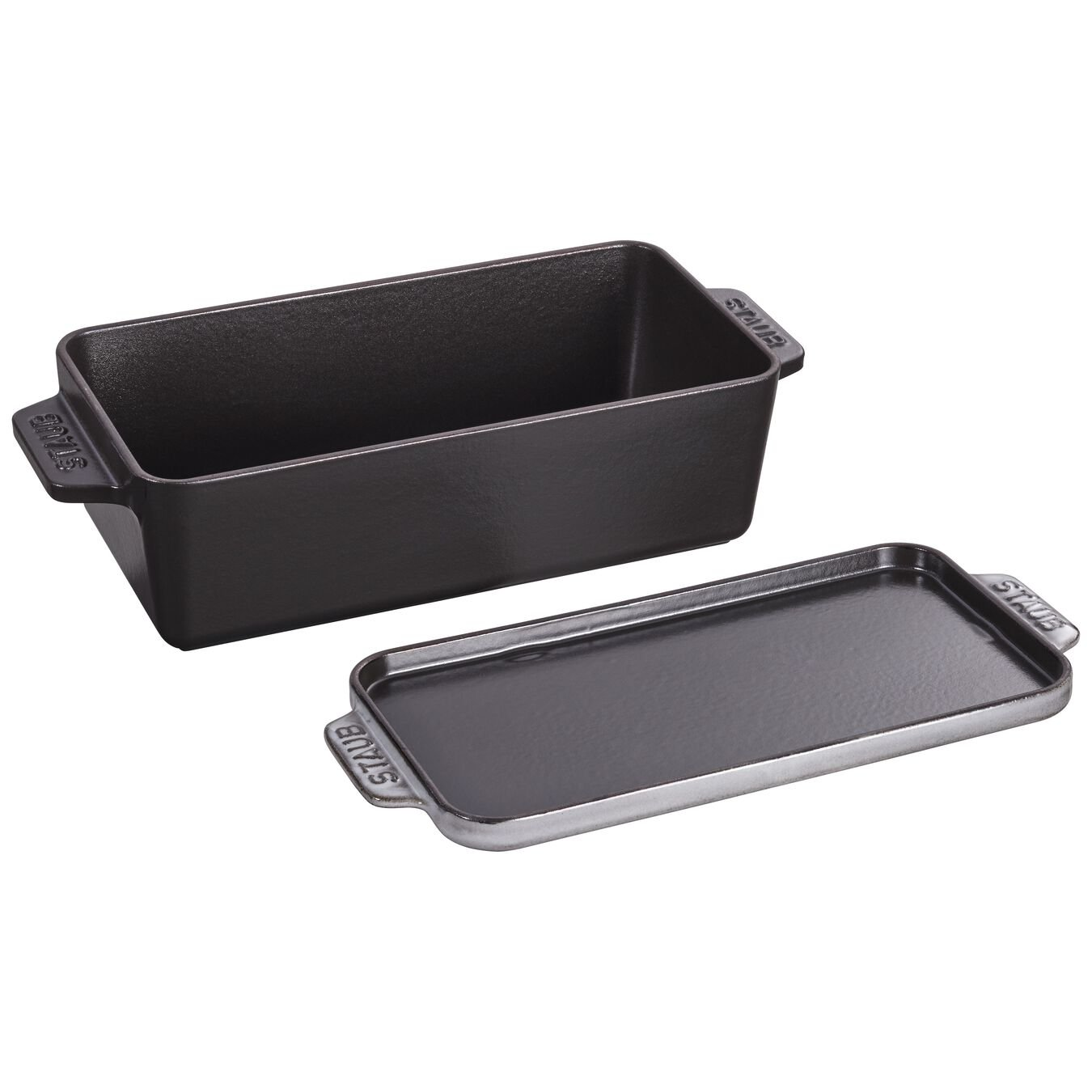 12.75-inch x 5.25-inch Covered Loaf Pan - Graphite Grey,,large 2