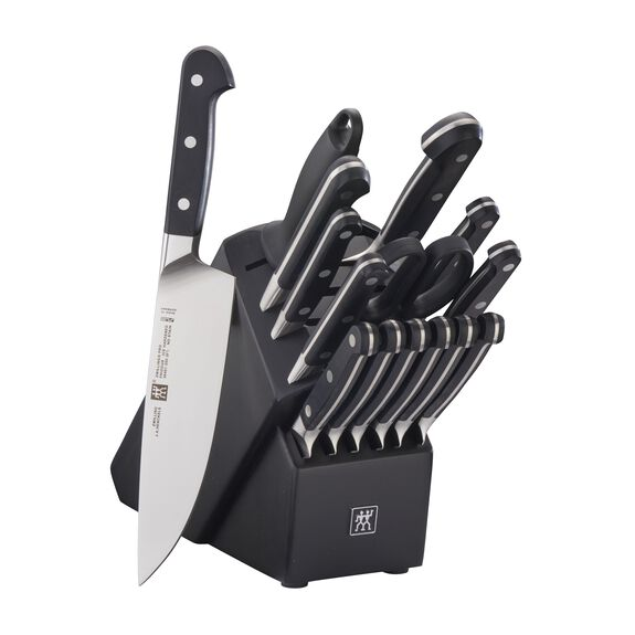 16-pc Knife Block Set - Black,,large