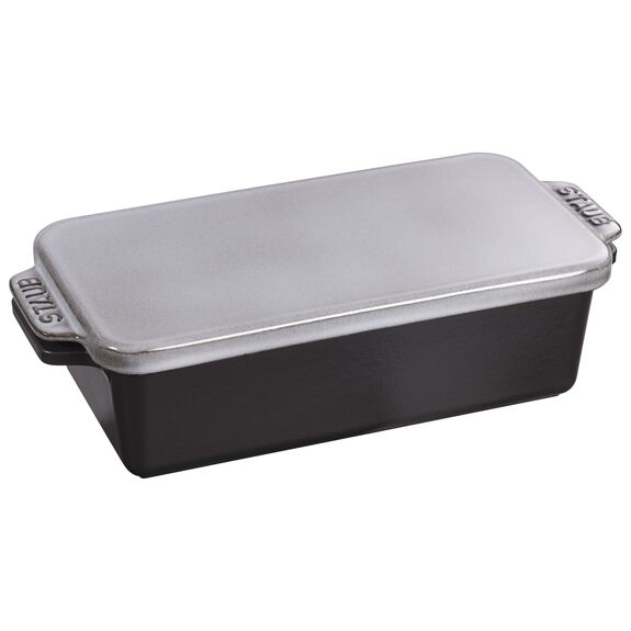 12.75-inch x 5.25-inch Covered Loaf Pan - Graphite Grey,,large