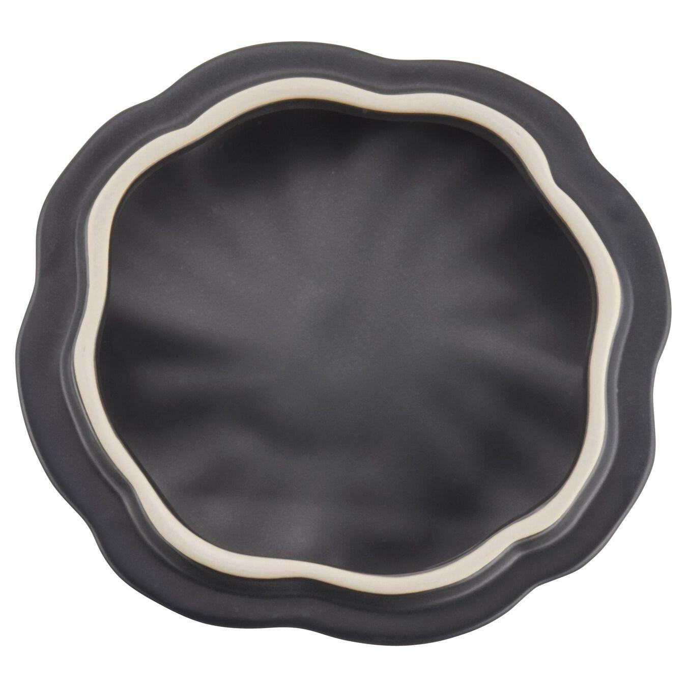 Cocotte 15 cm, Kürbis, Schwarz, Keramik,,large 8