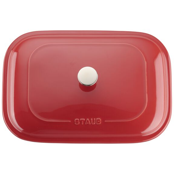 12-inch x 8-inch Rectangular Covered Baking Dish - Cherry,,large 4