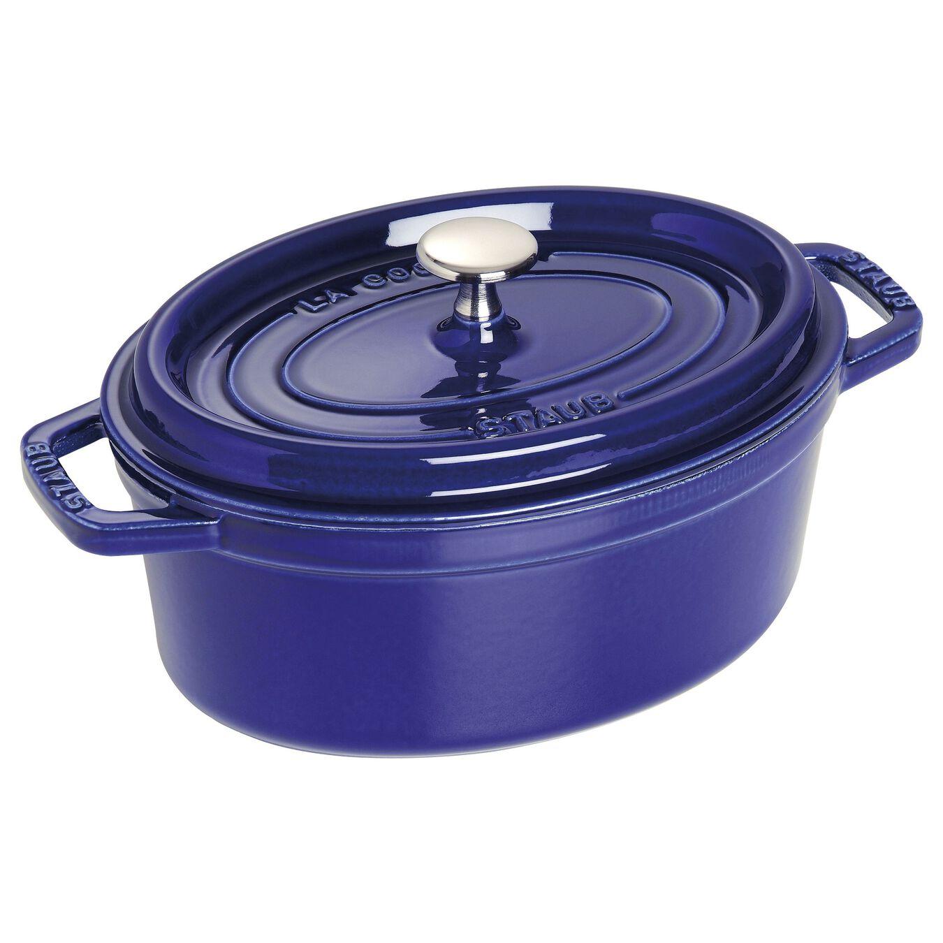 Caçarola 23 cm, oval, azul marinho, Ferro fundido,,large 1