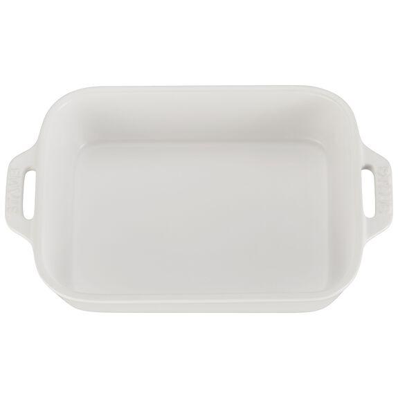 7.5x6-inch Rectangular Baking Dish, Matte White, , large 2