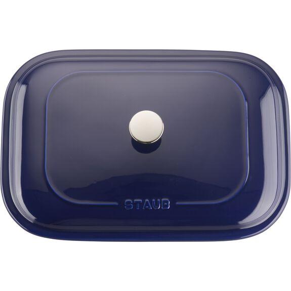 Ceramic Rectangular Covered Baking Dish, Dark Blue,,large 3