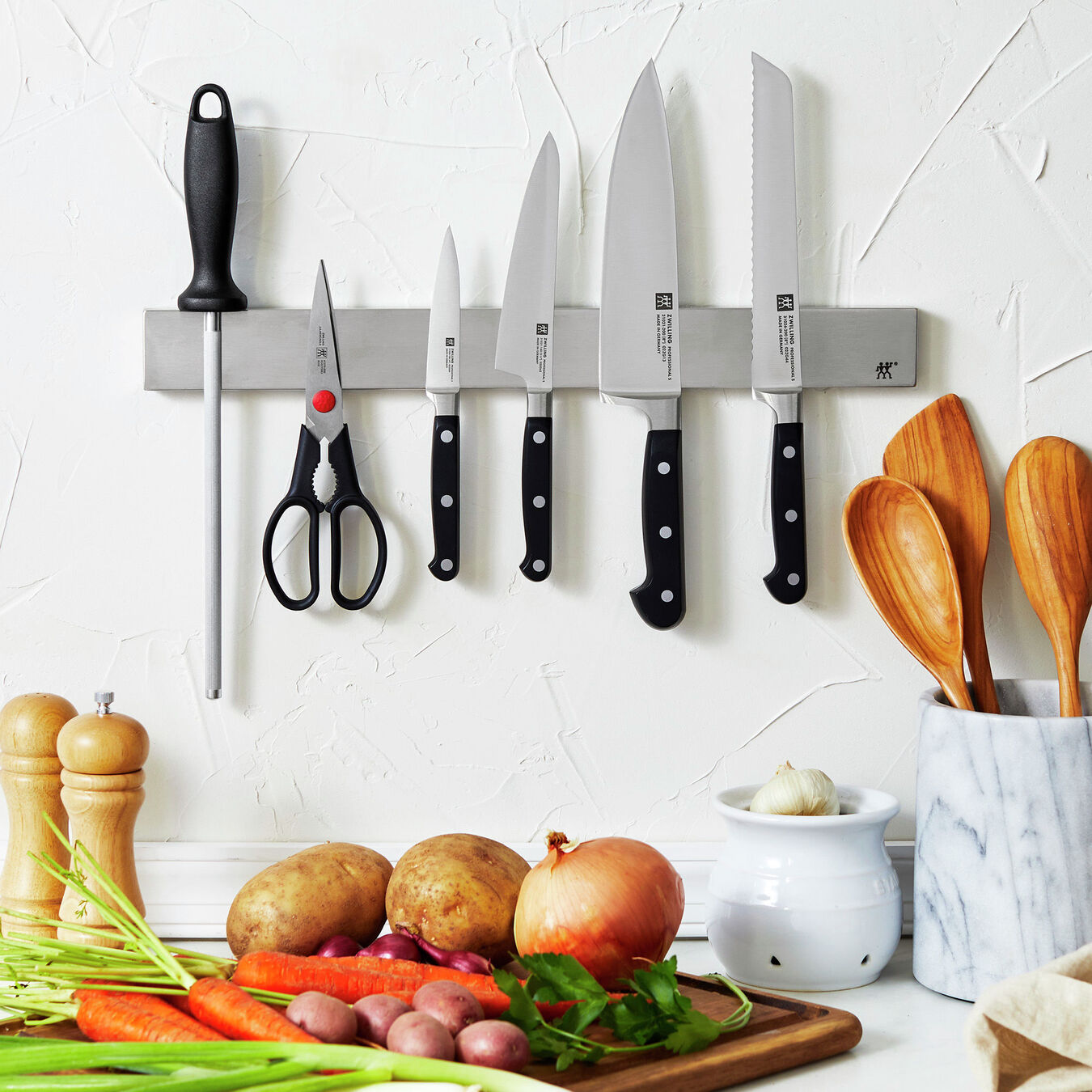 """7-pc, Set with 17.5"""" Stainless Magnetic Knife Bar,,large 8"""