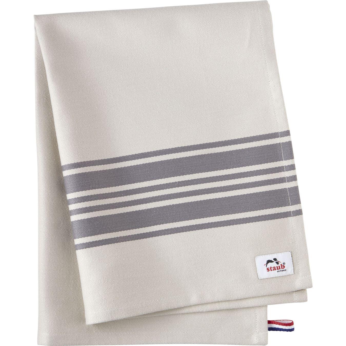70 cm x 50 cm Cotton Kitchen towel, Grey,,large 1