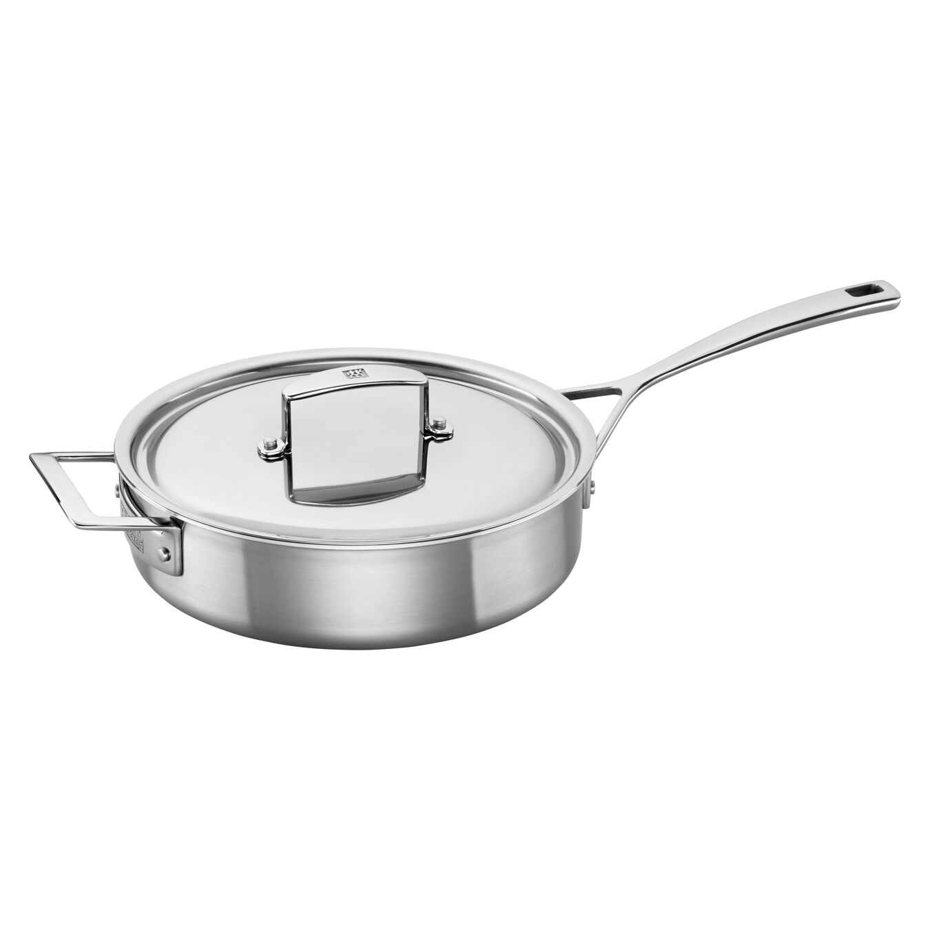 24 cm 18/10 Stainless Steel Saute pan with lid,,large 1