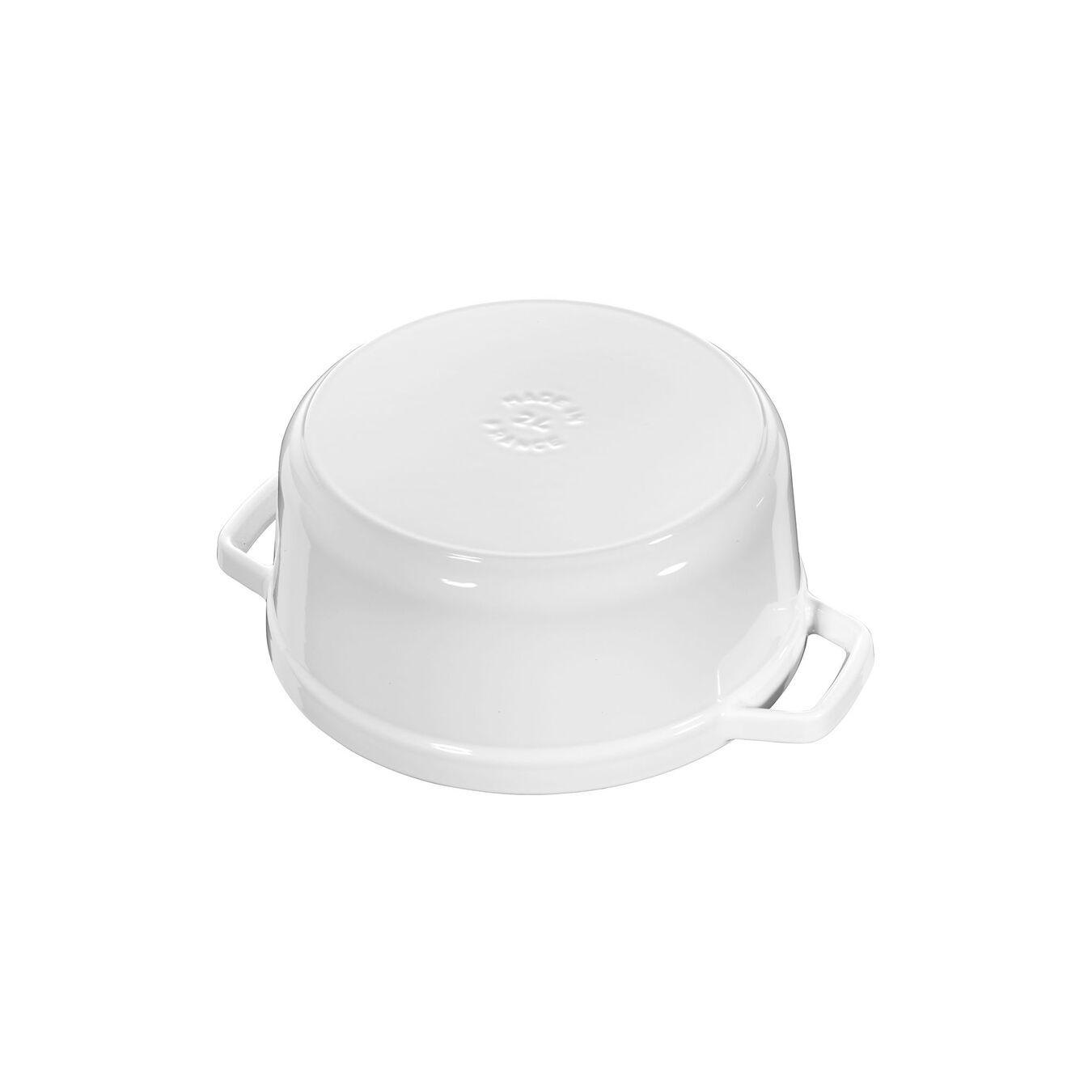5.5 qt, round, Cocotte, white,,large 2