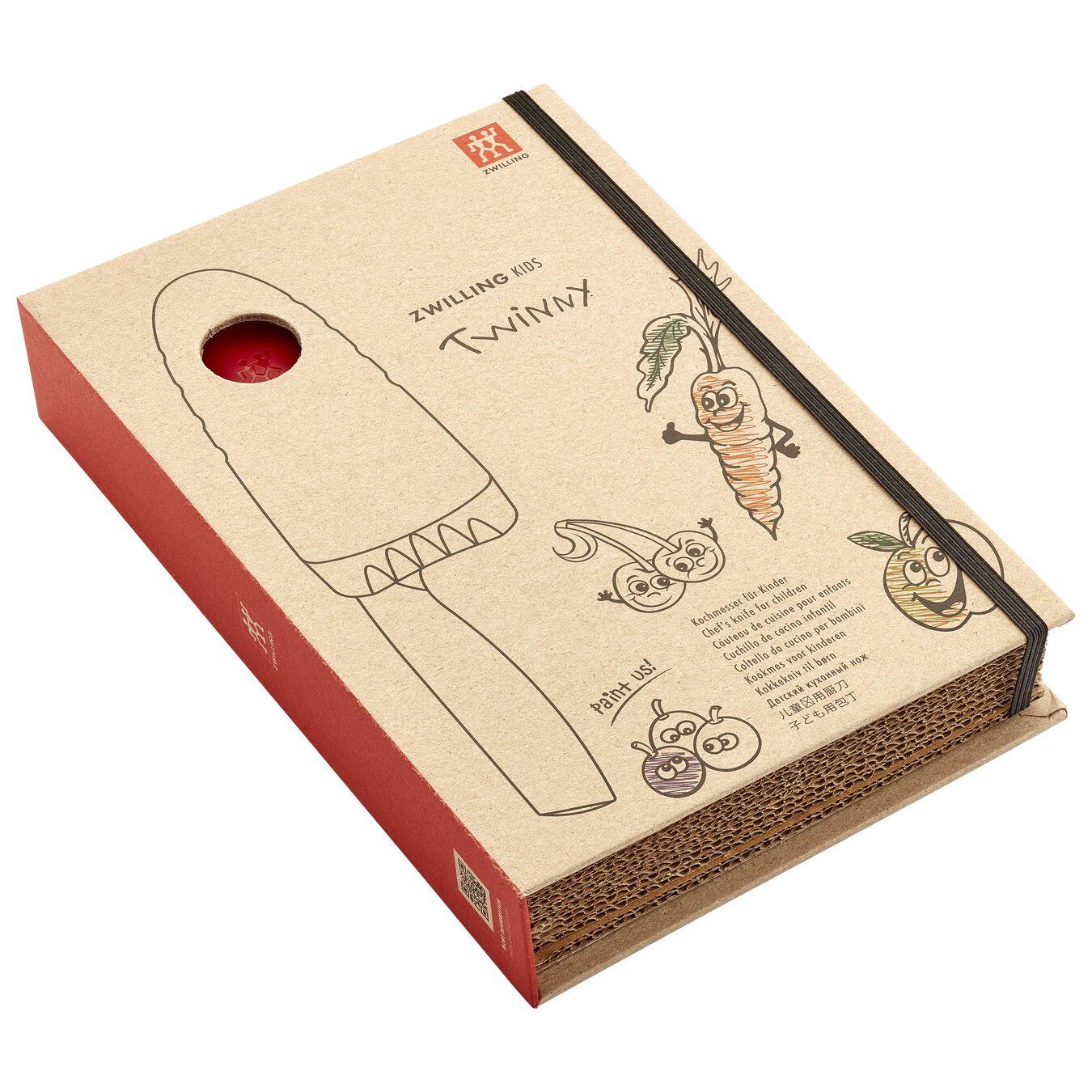 Coltello da cuoco - 10 cm, rosso,,large 5
