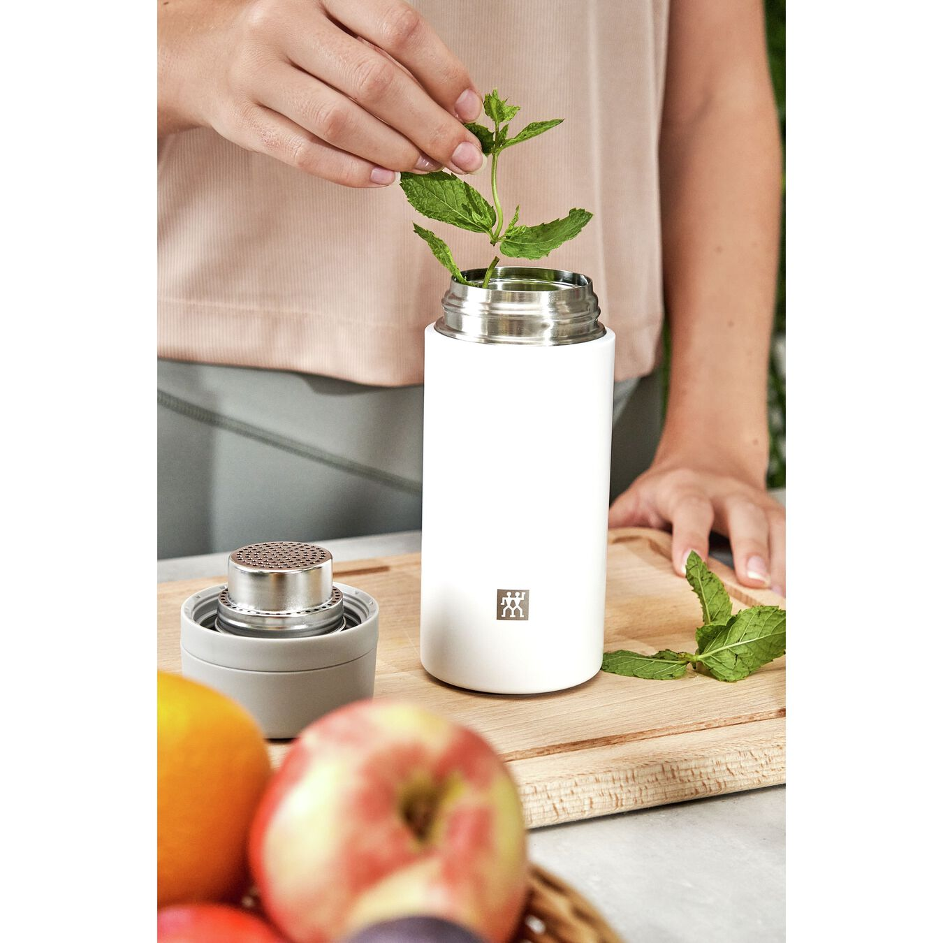 Thermos - 420 ml, acciaio inox, bianco,,large 7