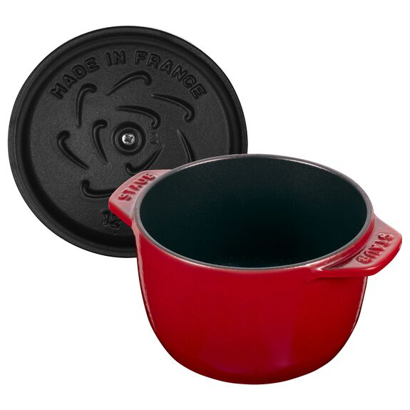 12-cm-/-4.5-inch round Cast iron Rice Cocotte, Cherry,,large 3