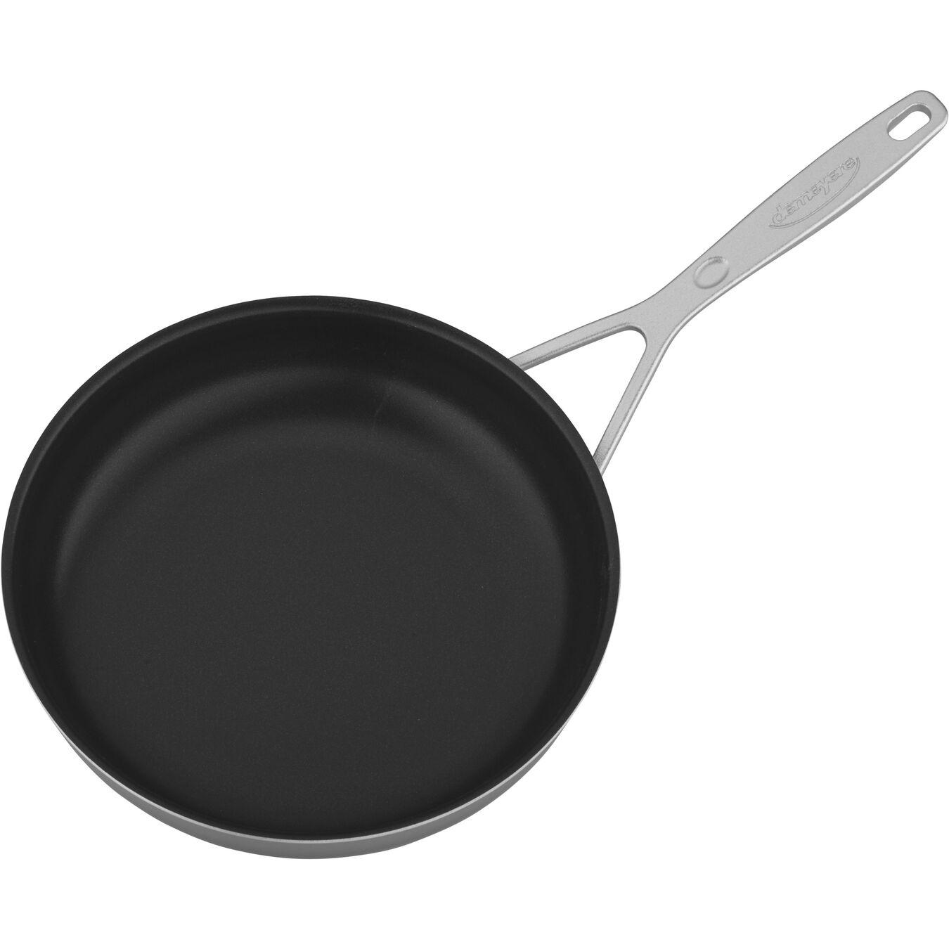 Poêle 24 cm, Inox 18/10, Silver-Black,,large 2