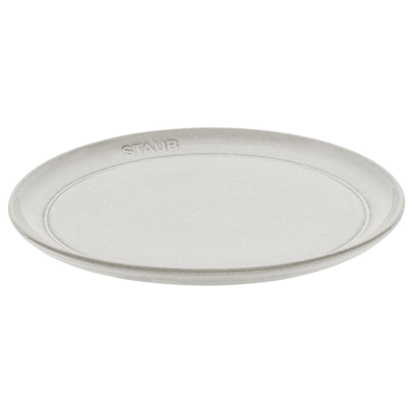 Piatto piano rotondo - 22 cm, tartufo bianco,,large 1