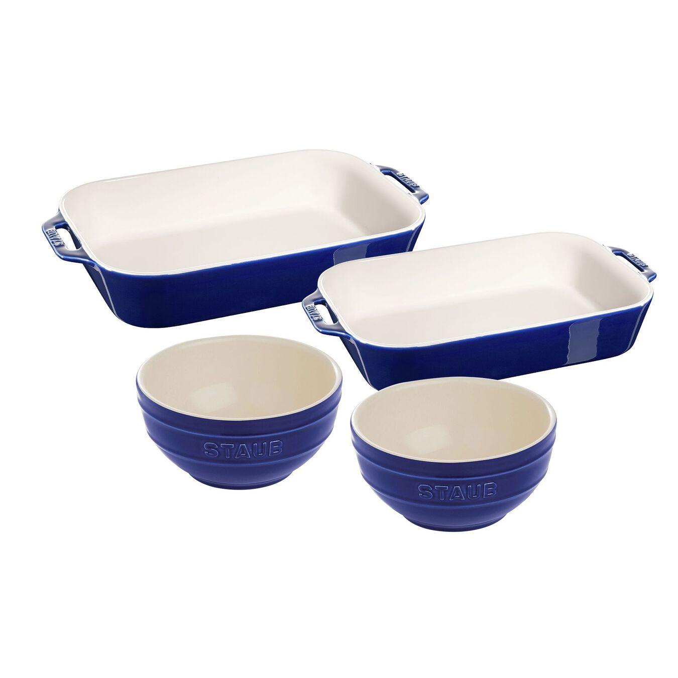 4-pc, Bakeware set, dark blue,,large 1