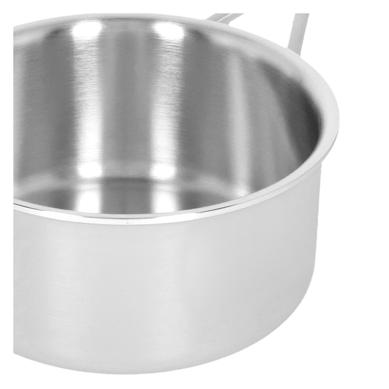 Casserole avec couvercle 16 cm, Inox 18/10, Argent,,large 4