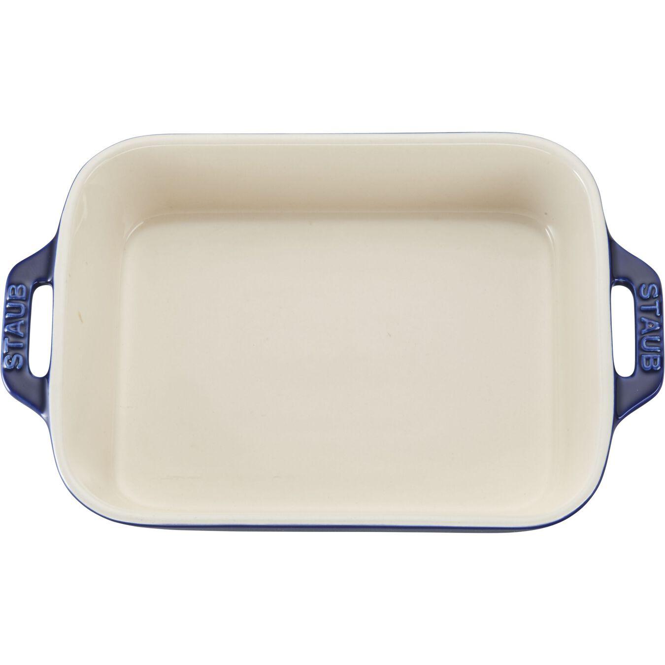 7.5-inch x 6-inch Rectangular Baking Dish - Dark Blue,,large 3