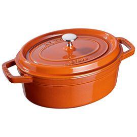 Staub Cast iron, 3.5-qt-/-27-cm oval Cocotte, Cinnamon