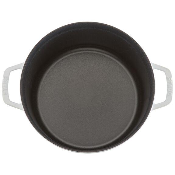 5.5-qt round Cocotte, White,,large 8