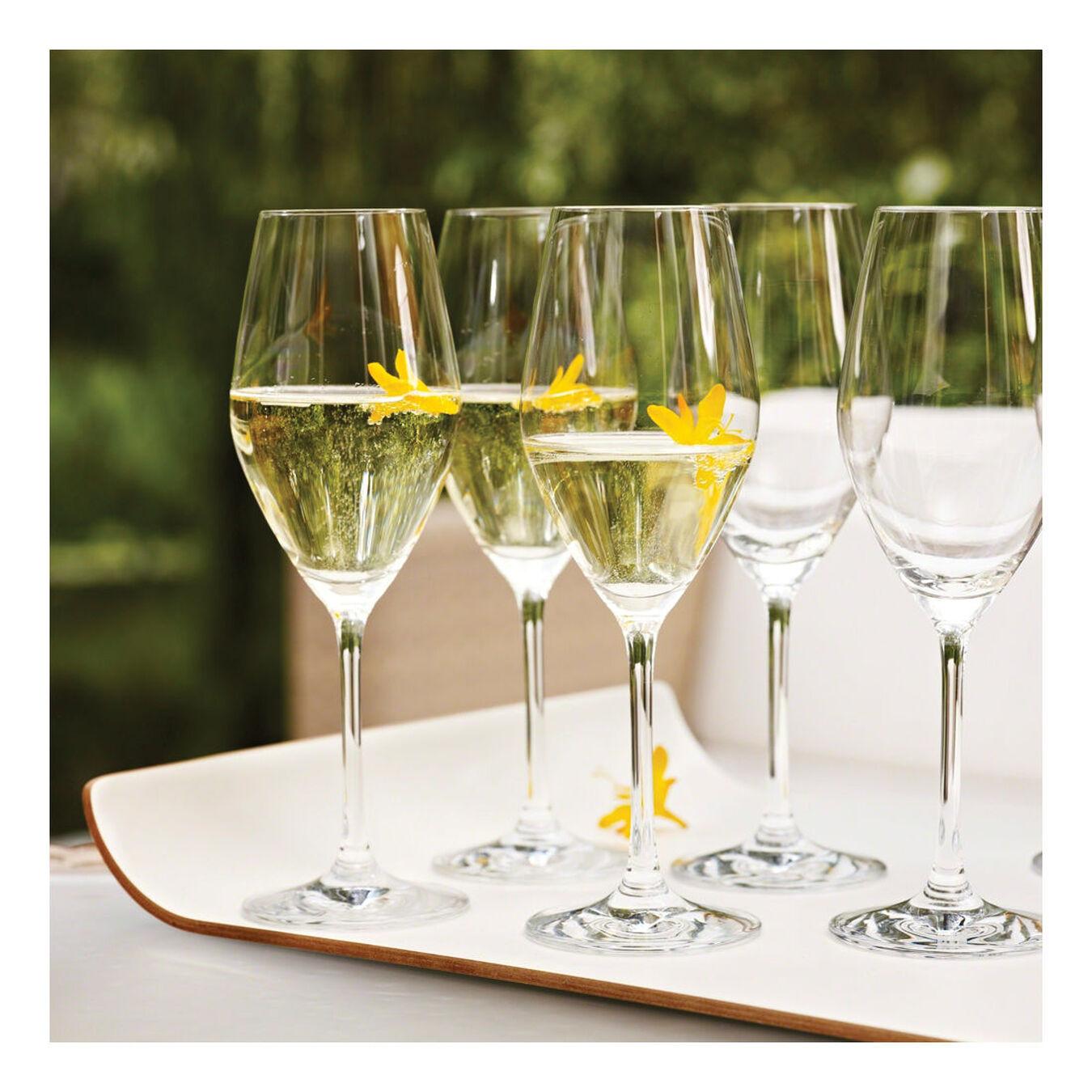 Champagne glass set, 6 Piece | transparent,,large 3