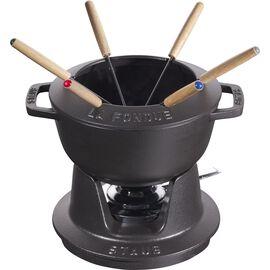 Staub Specialities, Conjunto para fondue 18 cm, Preto