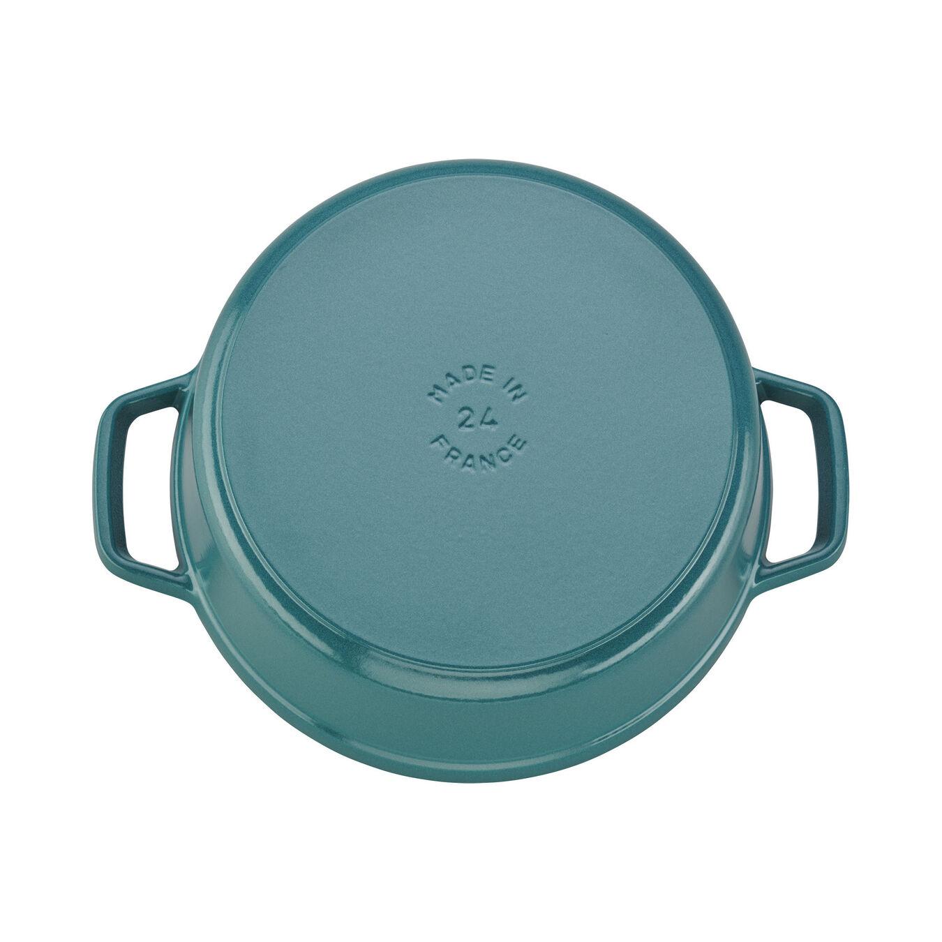 4 qt, round, Cocotte, turquoise,,large 3