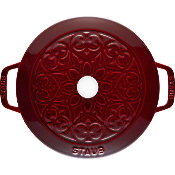 3.75-qt round French oven lily, Grenadine,,large 3