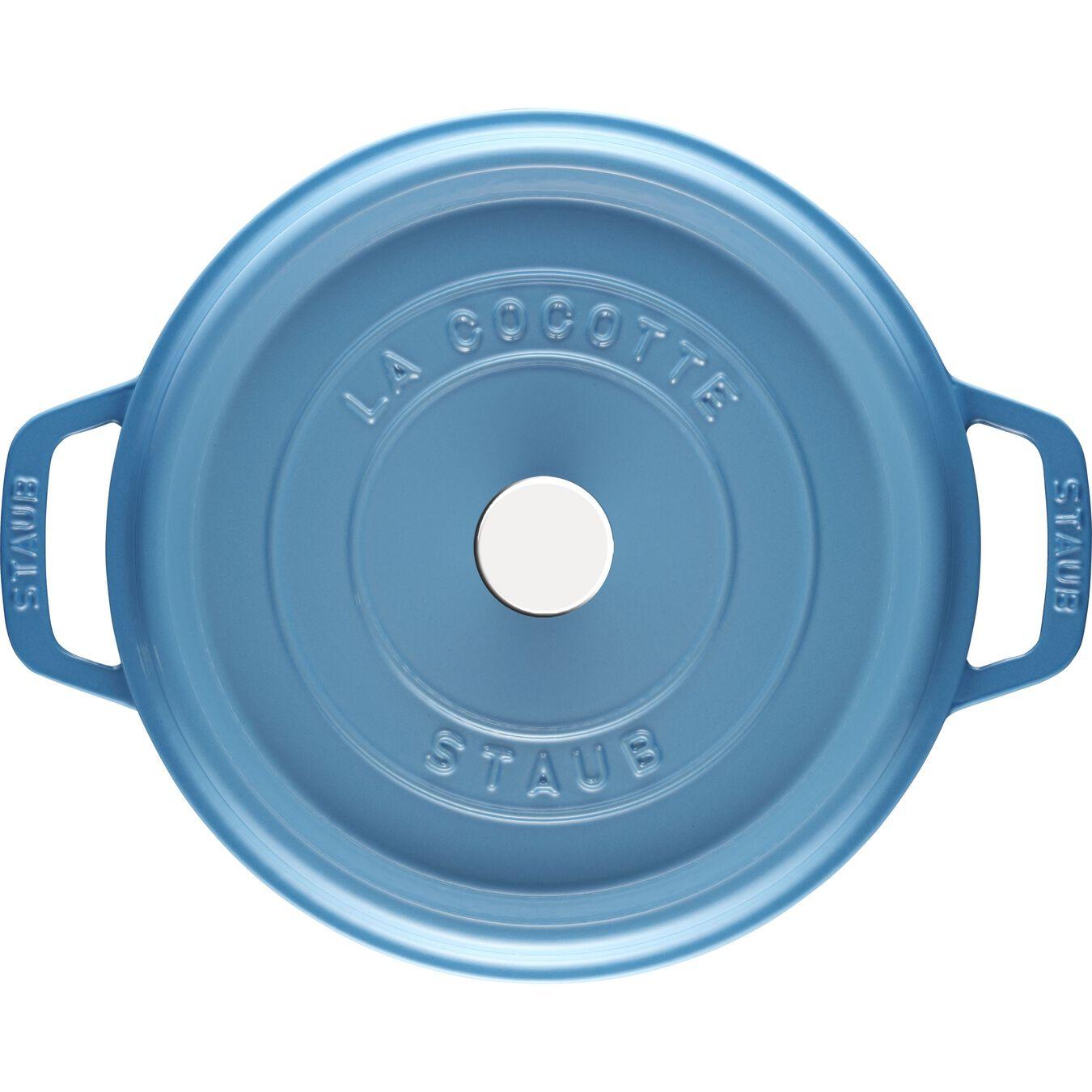 4 qt, round, Cocotte, ice-blue,,large 2