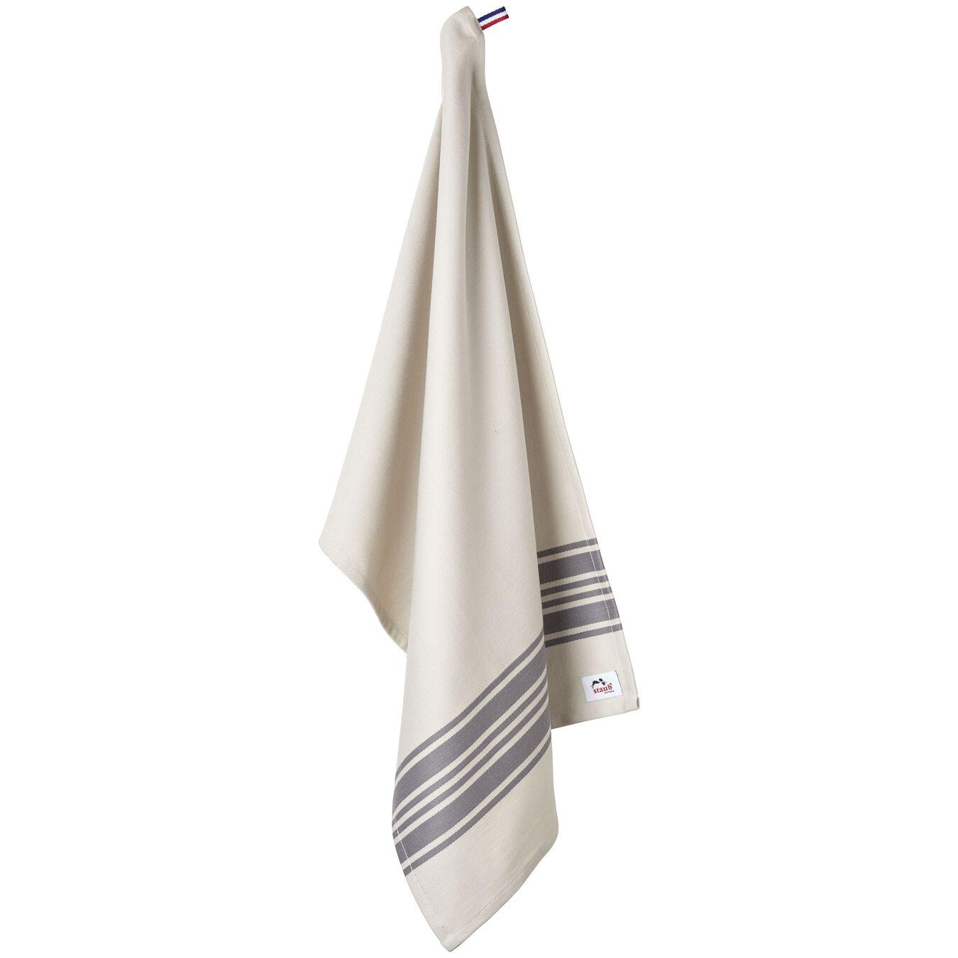 70 cm x 50 cm Cotton Kitchen towel, Grey,,large 5