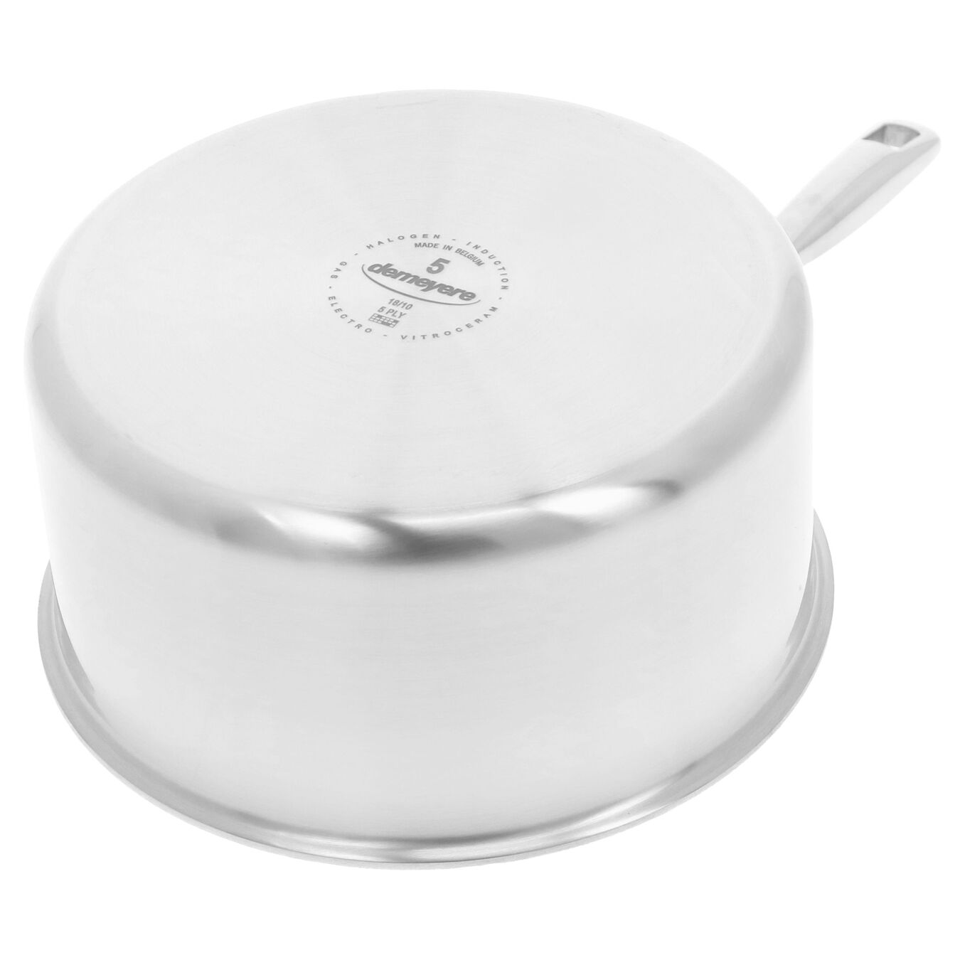 2.8 l round sauce pan with lid 3QT, silver,,large 5